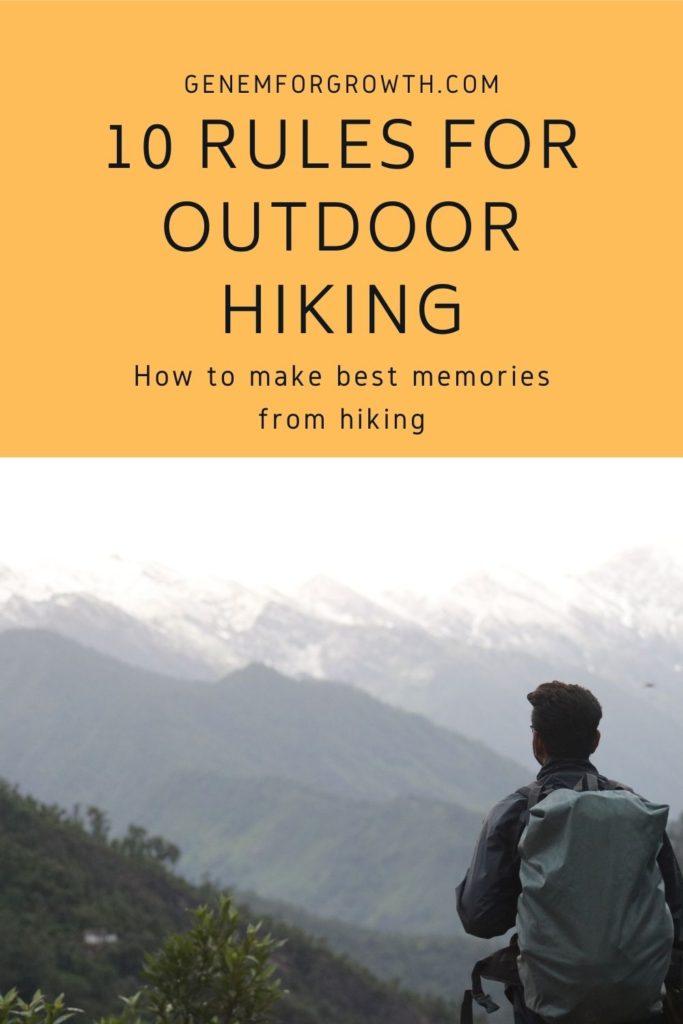 hiking rules