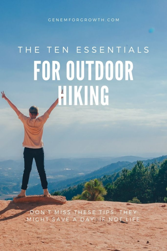 the ten essentials for hiking