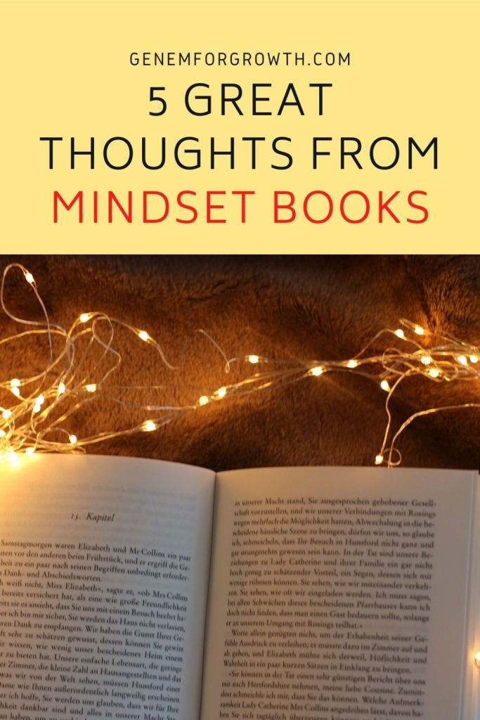 thoughts from mindset books