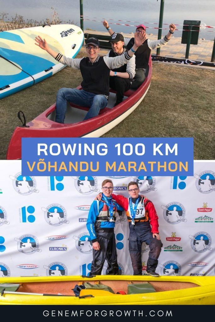 rowing 100 km