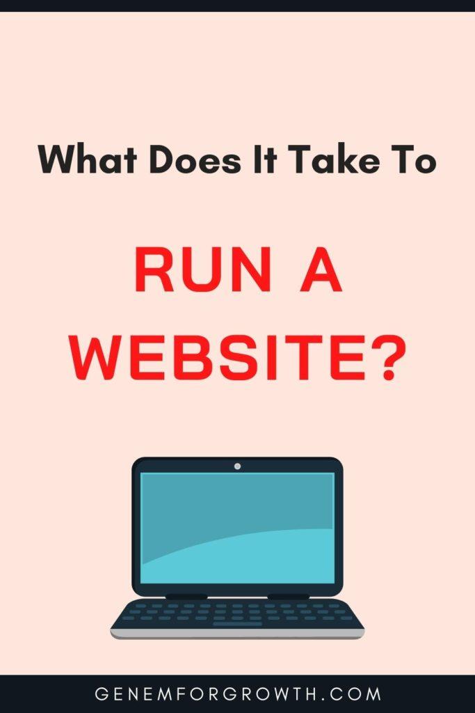 run a website