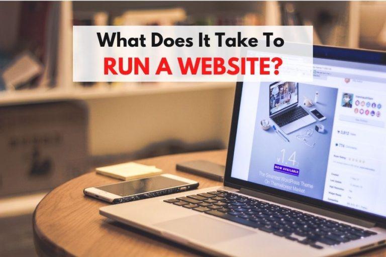 running a website